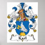 Escudo de la familia de Karl Impresiones