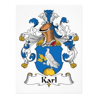 Escudo de la familia de Karl Invitacion Personalizada