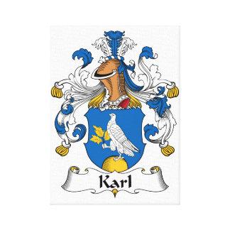 Escudo de la familia de Karl Lona Envuelta Para Galerias
