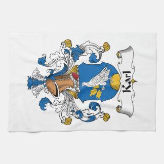 Escudo de la familia de Karl Toalla De Mano