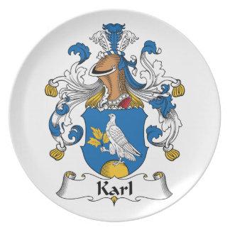 Escudo de la familia de Karl Plato De Cena