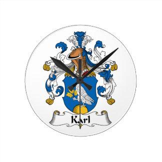 Escudo de la familia de Karl Reloj
