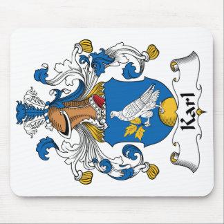 Escudo de la familia de Karl Alfombrillas De Ratones