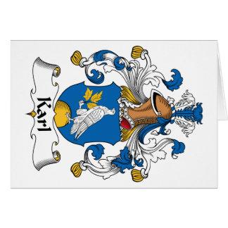 Escudo de la familia de Karl Tarjeta De Felicitación
