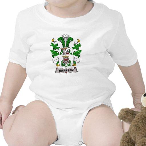 Escudo de la familia de Karlsen Camisetas
