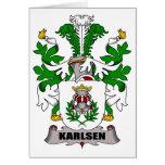 Escudo de la familia de Karlsen Felicitación