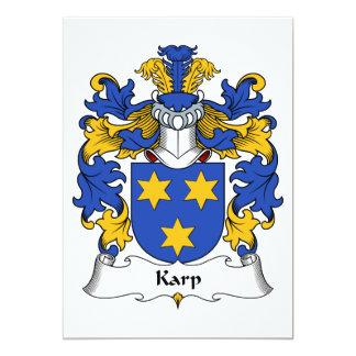 """Escudo de la familia de Karp Invitación 5"""" X 7"""""""