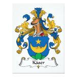 Escudo de la familia de Kaser Invitación Personalizada