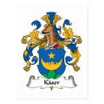 Escudo de la familia de Kaser Tarjeta Postal