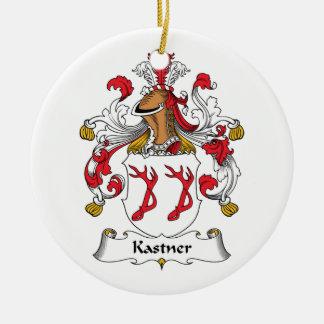Escudo de la familia de Kastner Adorno Navideño Redondo De Cerámica