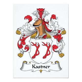 """Escudo de la familia de Kastner Invitación 6.5"""" X 8.75"""""""