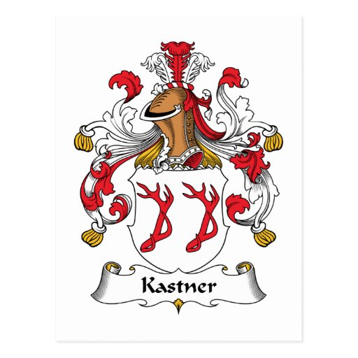 Escudo de la familia de Kastner Tarjetas Postales