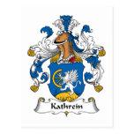 Escudo de la familia de Kathrein Tarjetas Postales
