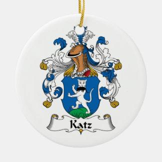 Escudo de la familia de Katz Adorno Redondo De Cerámica