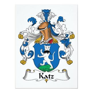 Escudo de la familia de Katz Invitación 16,5 X 22,2 Cm
