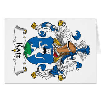 Escudo de la familia de Katz Tarjetón