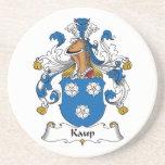 Escudo de la familia de Kaup Posavasos Personalizados