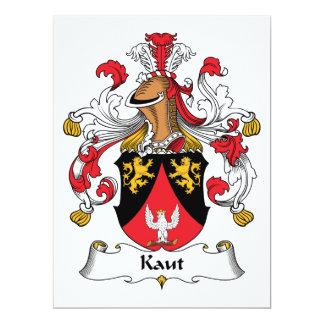 Escudo de la familia de Kaut Invitaciones Personalizada