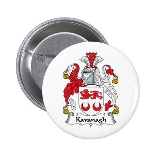 Escudo de la familia de Kavanagh Pin Redondo 5 Cm