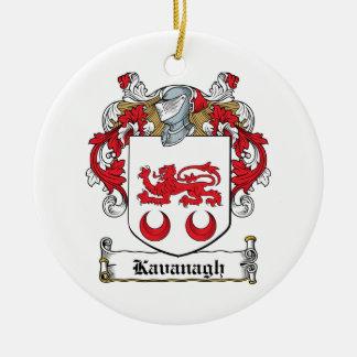 Escudo de la familia de Kavanaugh Adorno Redondo De Cerámica