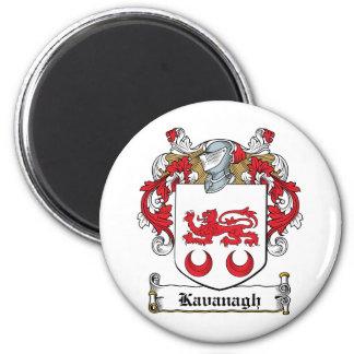 Escudo de la familia de Kavanaugh Imán Redondo 5 Cm