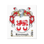 Escudo de la familia de Kavanaugh Impresiones De Lienzo