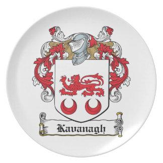 Escudo de la familia de Kavanaugh Platos