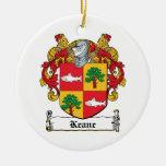 Escudo de la familia de Keane Ornamente De Reyes