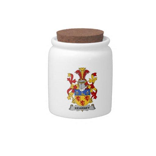 Escudo de la familia de Kearney Jarras Para Caramelos