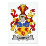 Escudo de la familia de Kearney Invitación Personalizada