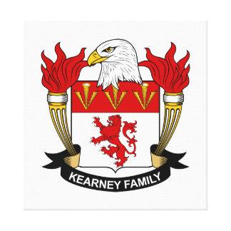 Escudo de la familia de Kearney Lona Envuelta Para Galerías