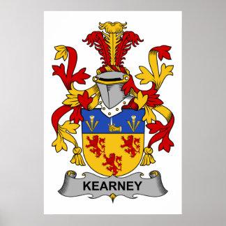Escudo de la familia de Kearney Posters