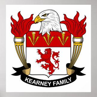 Escudo de la familia de Kearney Impresiones