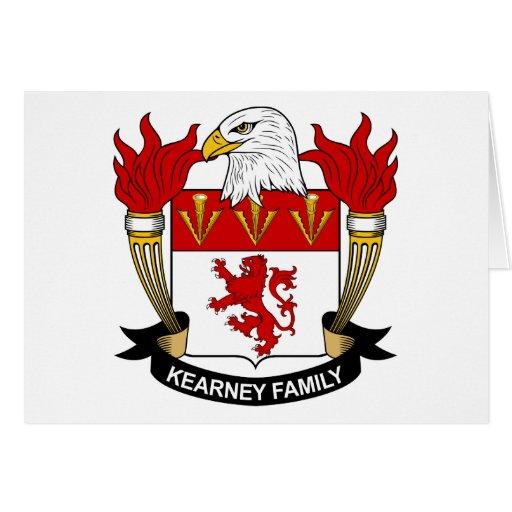 Escudo de la familia de Kearney Tarjeta