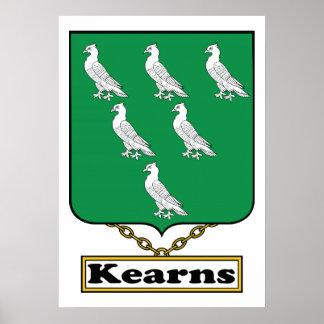 Escudo de la familia de Kearns Póster