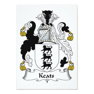 """Escudo de la familia de Keats Invitación 5"""" X 7"""""""