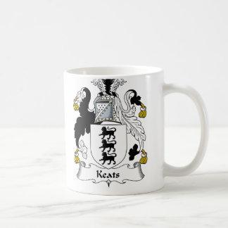 Escudo de la familia de Keats Taza Básica Blanca