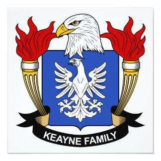 Escudo de la familia de Keayne Invitación 13,3 Cm X 13,3cm