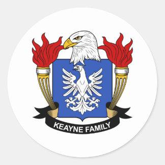 Escudo de la familia de Keayne Pegatina Redonda