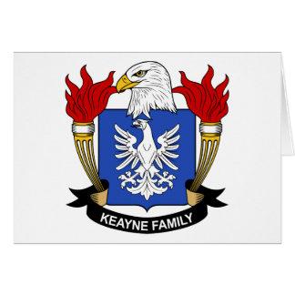 Escudo de la familia de Keayne Tarjetas