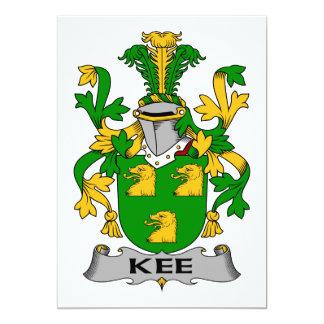 Escudo de la familia de Kee Invitación 12,7 X 17,8 Cm