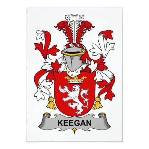 Escudo de la familia de Keegan Comunicado Personal