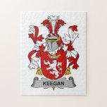 Escudo de la familia de Keegan Puzzles Con Fotos