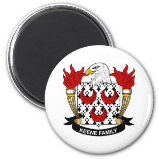 Escudo de la familia de Keene Imán Redondo 5 Cm