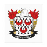 Escudo de la familia de Keene Lona Estirada Galerias