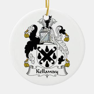 Escudo de la familia de Kellaway Ornamento Para Reyes Magos