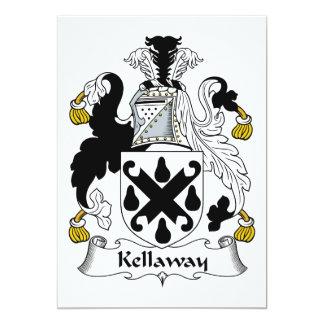 Escudo de la familia de Kellaway Invitación 12,7 X 17,8 Cm