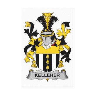 Escudo de la familia de Kelleher Impresión En Tela