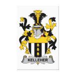 Escudo de la familia de Kelleher Impresión De Lienzo