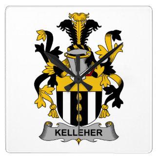 Escudo de la familia de Kelleher Reloj Cuadrado